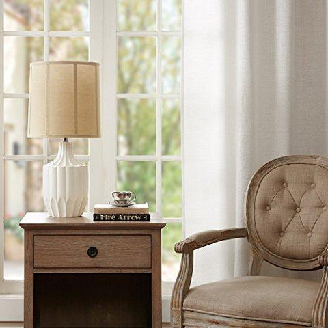 Modern Traditional white Ceramic Table Lamp with Fabric Shade