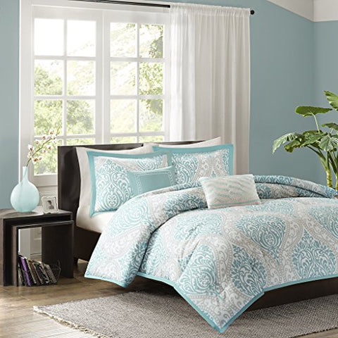 Intelligent Design Senna Comforter Set - Blue - Full/Queen