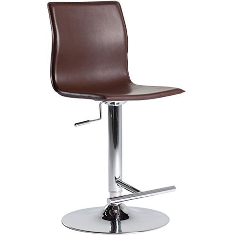 Surprising Contemporary Style Swivel Adjustable Height Counter Bar Stools With High Back And Upholstery Seat Chrome Finish Metal Pedestal Base Cappuccino Gmtry Best Dining Table And Chair Ideas Images Gmtryco