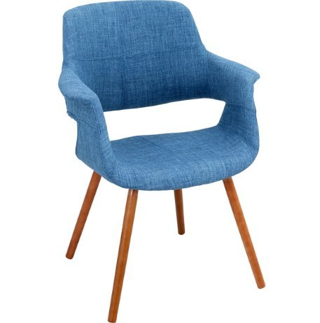 Strange Modern Retro Upholstered Accent Dining Chair With Curved Back And Angled Wood Legs Blue Machost Co Dining Chair Design Ideas Machostcouk