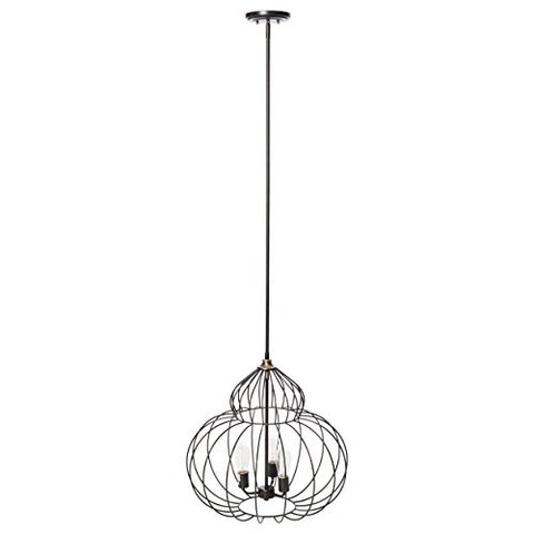 Industrial Modern Mushroom Chandelier with Distressed Iron Black Finish