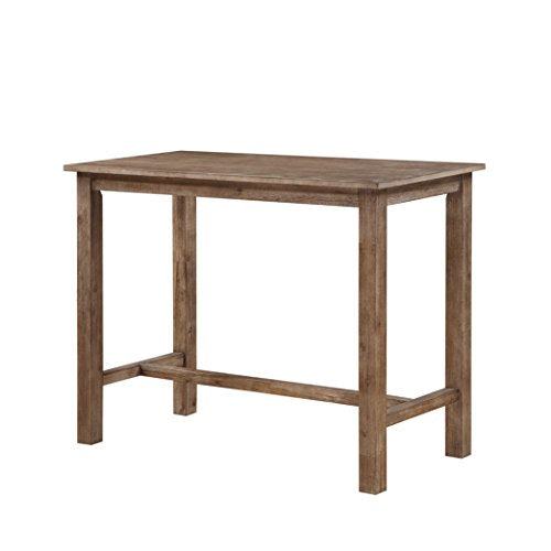 Contemporary Acacia Wood Pub Height Dining Table in Gray Finish