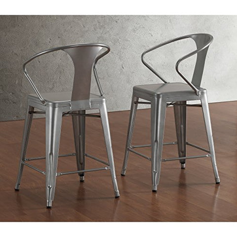 Set of 2 Stools in Glossy Powder Coated Finish