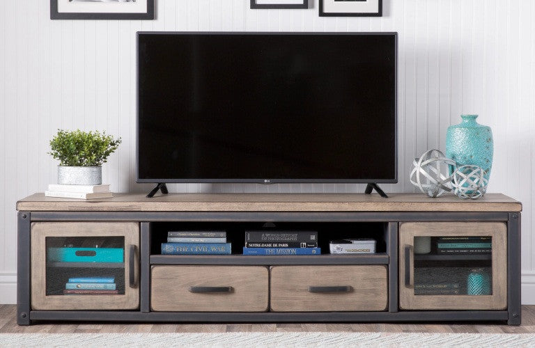 Industrial Rustic Modern TV Console
