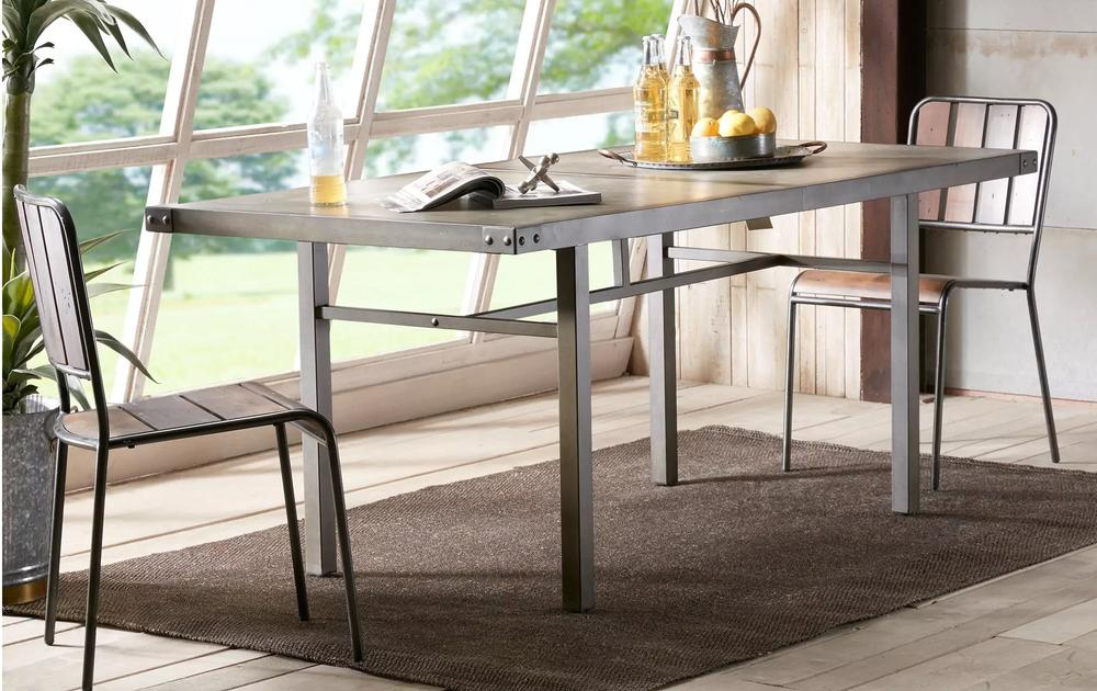 Industrial Concrete Top Dining Table
