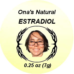 Ona's Natural Estrogen Cream, Estradiol (E2), Coconut Oil, 8 grams