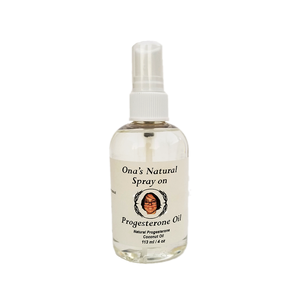 Ona's 3% Natural Progesterone Oil, Coconut Oil, Spray Pump