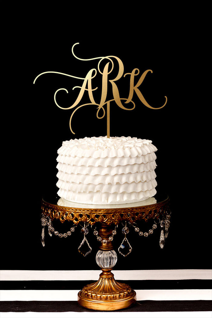 Custom Monogram Wedding Cake Topper