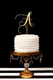 Custom Single Letter Monogram Wedding Cake Topper