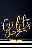 Gifts Wedding Table Sign