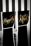 Happily Ever After Wedding Chair Signs