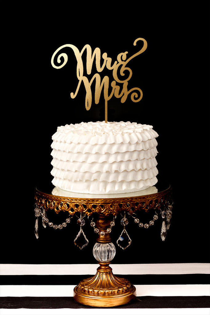 Mr and Mrs - Uppercase - Cake Topper