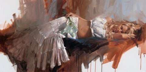 Lily - Hand Embellished Giclée on Canvas by Richard Johnson