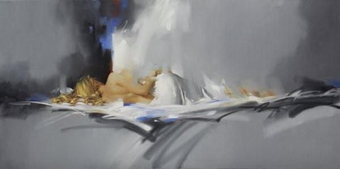 Nightfall - Hand Embellished Giclée on Canvas by Richard Johnson