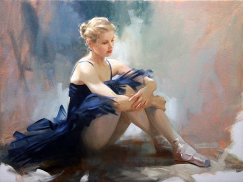 Ballet Dreams  - Hand Embellished Giclée on Canvas by Richard Johnson