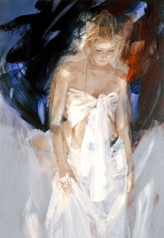 Backstage on Canvas by Christine Comyn