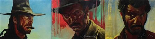 The Good, The Bad, The Ugly - Giclée Hand-Embellished Canvas