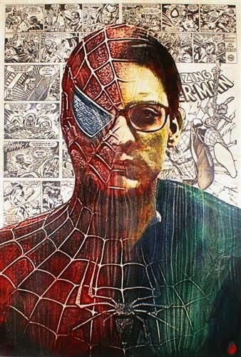 Peter Parker - Mixed Media on Board