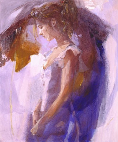 Beauty in Blue - Giclee Canvas by Christine Comyn
