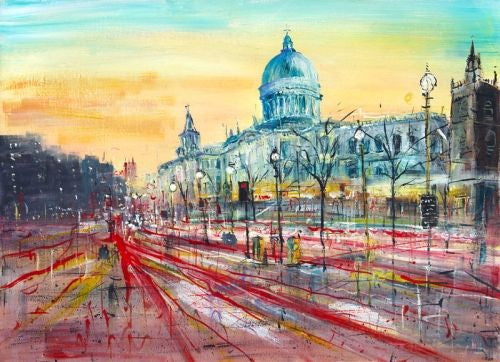 St Pauls Vista Canvas on Board by Carol Mountford