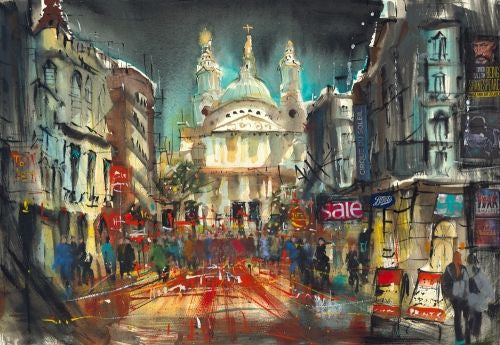 St Pauls London Giclee on Paper by Carol Mountford