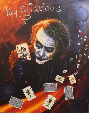 Why so Serious - Giclee Canvas by Ben Jeffery