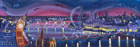 London Superstars - Giclee on Canvas Board by Rayford