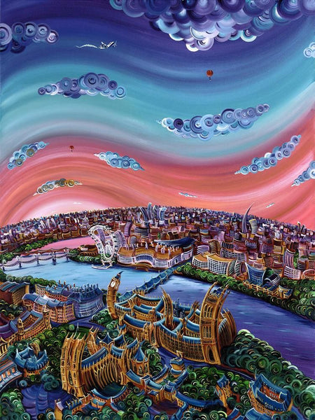 Thames Have Changed - Giclee on Canvas Board by Rayford
