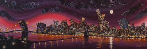 Moonlight on Manhattan - High Gloss Resin with 3D Elements by Rayford