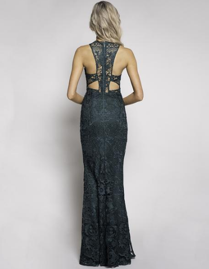 MERKEL GUIPURE LACE FISHTAIL GOWN