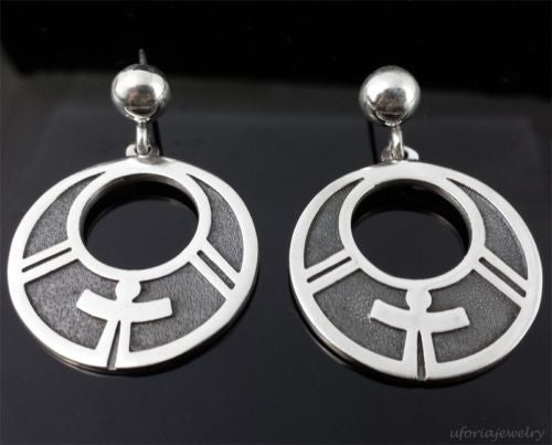VINTAGE DESIGN 950 STERLING SILVER EARRINGS M Rodriguez Margot de Taxco Mexico