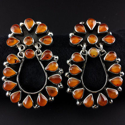 Taxco Vintage Style 925 Amber Earrings - Uforia Jewelry