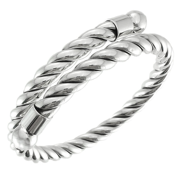 Sterling Silver Braided Rope Bangle Bracelet