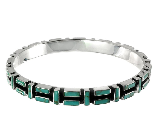 Sterling Silver Turquoise Bangle Bracelet