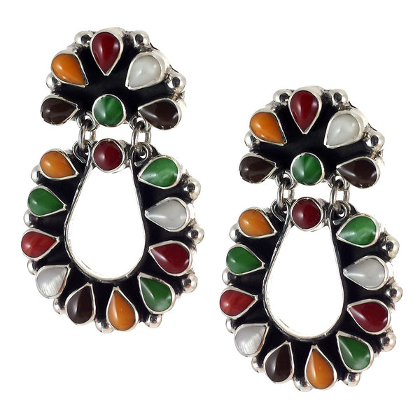 Sterling Silver Autumn Colors Earrings