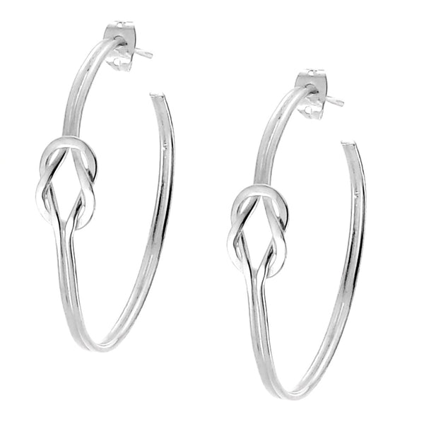 Sterling Silver Infinity Symbol Hoop Earrings