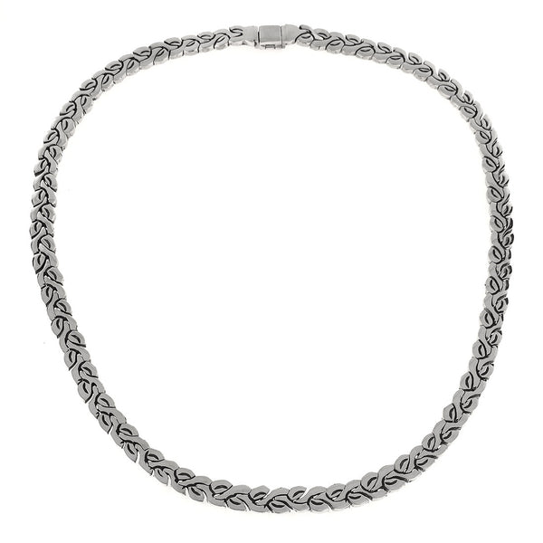 Sterling Silver Puzzle Leaf Necklace