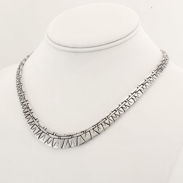 Sterling Silver Puzzle Style Necklace