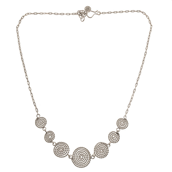 Sterling Silver  Spirals Necklace