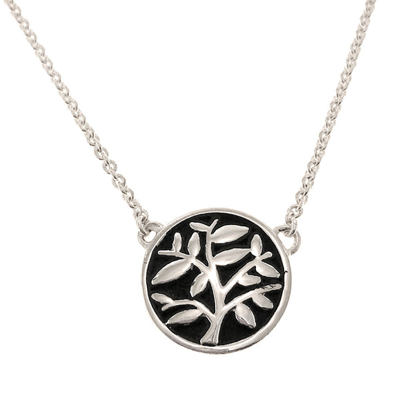 Sterling Silver Tree of Life Medallion Necklace