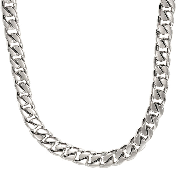 Sterling Silver 8mm 98g Men's Curb Chain Necklace, 23 1/4""