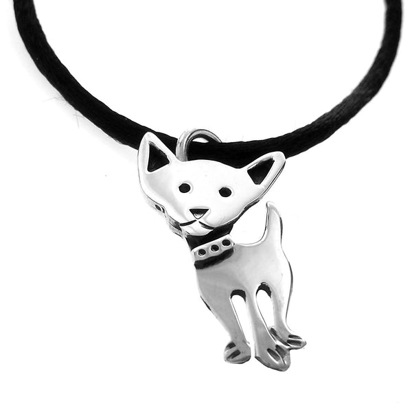 Sterling Silver Chihuahua Dog Pendant