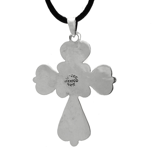 Sterling Silver Vintage Style Cross Pendant