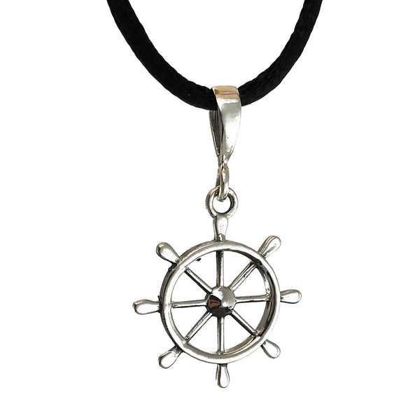 Sterling Silver Wheel Pendant