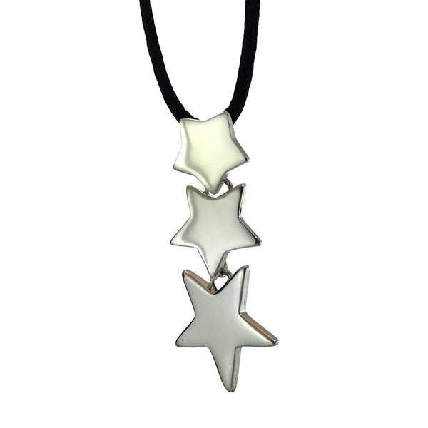 Sterling Silver Three Stars Pendant
