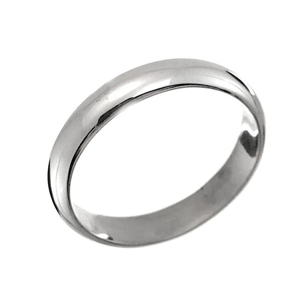 Sterling Silver 9mm Half Round Wedding Band Ring