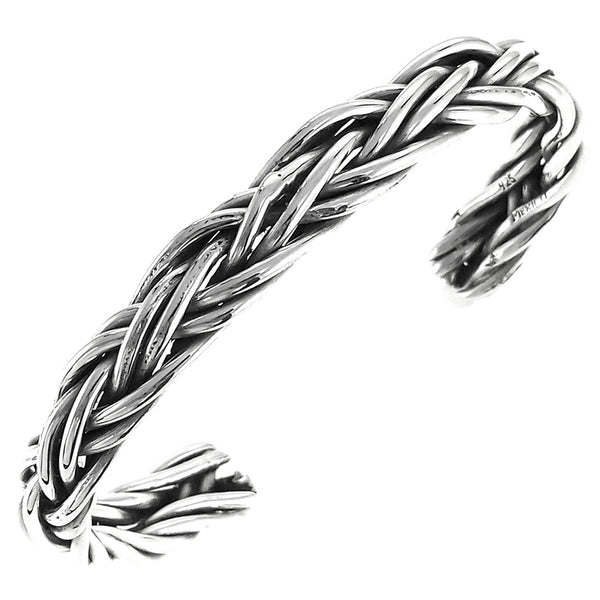 Sterling Silver Braided Cuff Bracelet