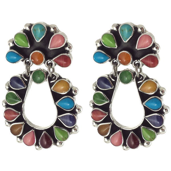 Sterling Silver Multi Color Earrings