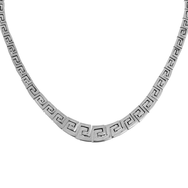 Sterling Silver Greek Style Link Necklace