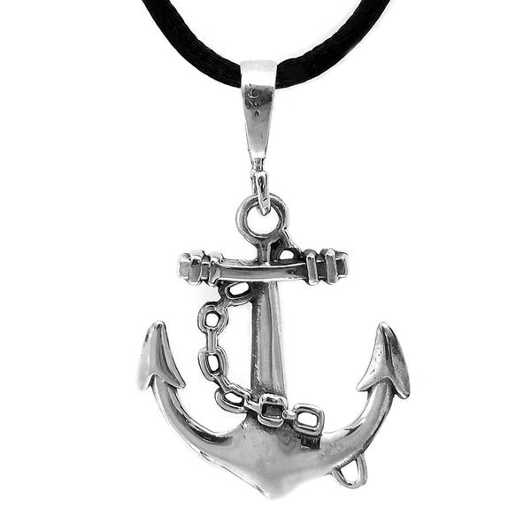 Sterling Silver Sailor Anchor Pendant